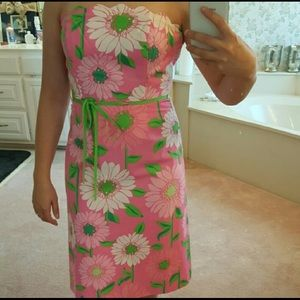 Lilly Pulitzer vintage strapless dress
